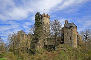 Kasselburg Castle near Pelm, Eifel, Rhineland-Palatinate, Germany, Europe by Hans-Peter Merten