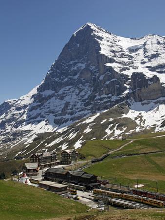 Kleine Scheidegg and Eiger Near Grindelwald, Bernese Oberland, Swiss Alps, Switzerland, Europe by Hans Peter Merten