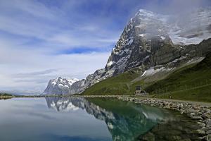 Lake Fallboden, Eiger and Wetterhorn, Grindelwald, Bernese Oberland, Canton of Bern, Switzerland, E by Hans-Peter Merten