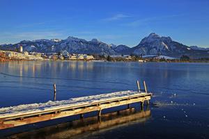 Lake Hopfensee, Hopfen am See, Allgau, Bavaria, Germany, Europe by Hans-Peter Merten