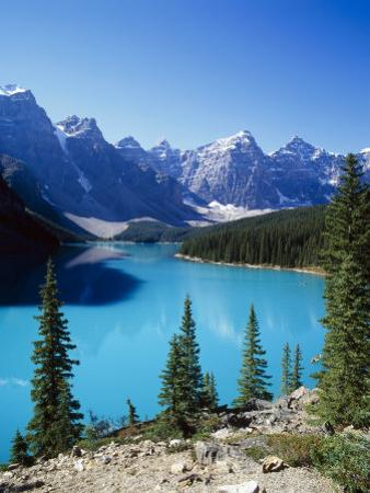 Lake Moraine, Valley of the Ten Peaks, Banff National Park, Alberta, Canada by Hans Peter Merten