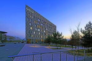 Melia Hotel on Kirchberg in Luxembourg City, Grand Duchy of Luxembourg, Europe by Hans-Peter Merten