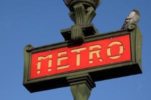 Metro Sign Paris by Hans Peter Merten
