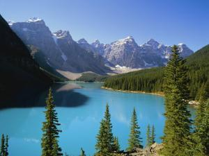 Moraine Lake, Valley of Ten Peaks, Banff National Park, Rocky Mountains, Alberta, Canada by Hans Peter Merten