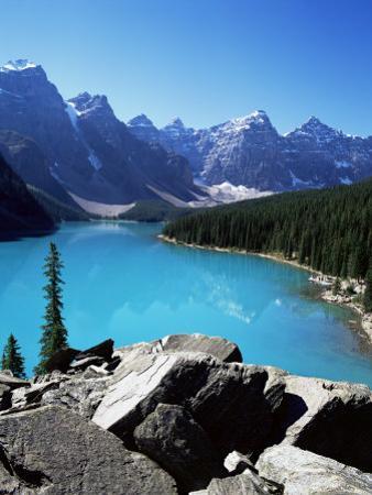 Moraine Lake, Valley of the Ten Peaks, Banff National Park, Rocky Mountains by Hans Peter Merten