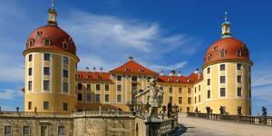 Moritzburg Castle near Dresden, Saxony, Germany, Europe by Hans-Peter Merten