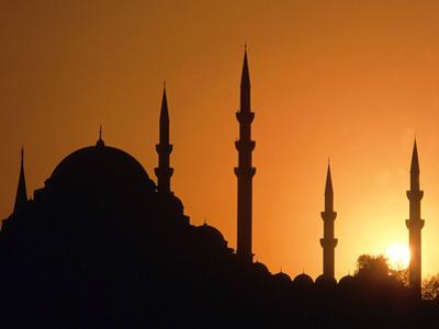 Mosque Hagia Sofia at Sunset, Istanbul, Turkey by Hans Peter Merten