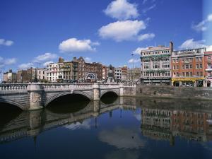 O'Connell Bridge over the River Liffey, Dublin, County Dublin, Republic of Ireland, Europe by Hans Peter Merten