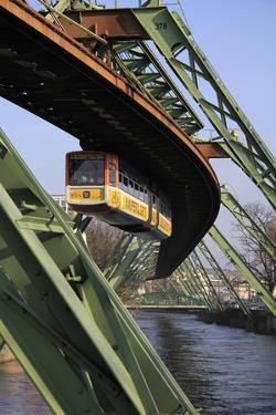 Overhead Railway over Th River Wupper, Wuppertal, North Rhine-Westphalia, Germany, Europe by Hans Peter Merten