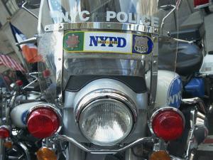 Police Harley Davidson Motorbike, New York City, New York, United States of America, North America by Hans Peter Merten