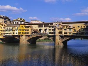 Ponte Vecchio over the River Arno, Florence, Italy by Hans Peter Merten