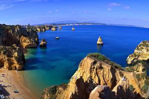 Praia Da Dona Ana, Algarve, Portugal by Hans Peter Merten