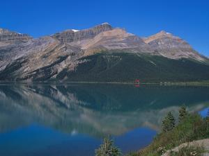 Reflection of the Rockies in Lake Bow, Banff National Park, Alberta, Canada by Hans Peter Merten