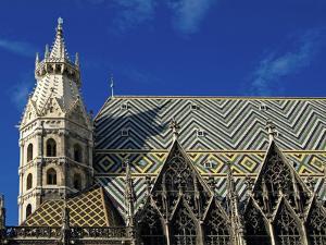 Roof of Stephansdom, UNESCO World Heritage Site, Vienna, Austria, Europe by Hans Peter Merten