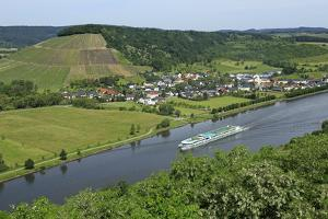 Saar River near Ayl-Biebelhausen, Rhineland-Palatinate, Germany, Europe by Hans-Peter Merten