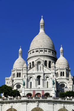 Sacre Coeur Basilica on Montmartre, Paris, France, Europe by Hans-Peter Merten