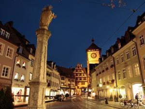 Salzstravue and Schwabentor, Old Town, Freiburg, Baden-Wurttemberg, Germany, Europe by Hans Peter Merten
