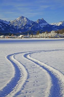 Schwangau and Tannheimer Alps, Allgau, Bavaria, Germany, Europe by Hans-Peter Merten