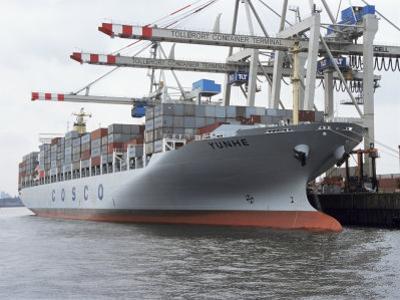Shipping, Port, Hamburg, Germany by Hans Peter Merten
