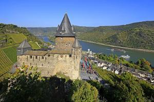 Stahleck Castle near Bacharach, Rhine Valley, Rhineland-Palatinate, Germany, Europe by Hans-Peter Merten