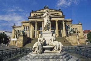 Statue of Friedrich Schiller and the Schauspielhaus, Gendarmenmarkt, Berlin, Germany by Hans Peter Merten