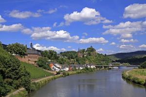 Town of Saarburg on River Saar, Rhineland-Palatinate, Germany, Europe by Hans-Peter Merten