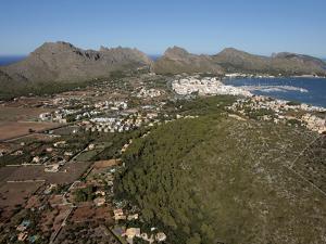 Tramuntana Mountains and Port De Pollenca, Mallorca, Balearic Islands, Spain, Mediterranean, Europe by Hans Peter Merten