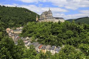 Vianden Castle above the Town of Vianden on Our River, Canton of Vianden, Grand Duchy of Luxembourg by Hans-Peter Merten
