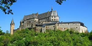 Vianden Castle in the canton of Vianden, Grand Duchy of Luxembourg, Europe by Hans-Peter Merten