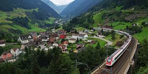 Wassen, Gotthard, Canton of Uri, Swirtzerland, Europe by Hans-Peter Merten