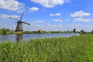 Windmills in Kinderdijk, UNESCO World Heritage Site, South Holland, Netherlands, Europe by Hans-Peter Merten