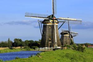 Windmills of Leidschendam, South Holland, Netherlands, Europe by Hans-Peter Merten