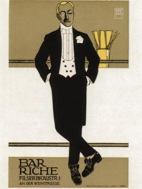 Bar Riche, 1907 by Hans Rudi Erdt