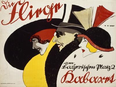 German Advertisement for the Cabaret 'Die Fliege' in Berlin, Printed by Hollerbaum and Schmidt,…