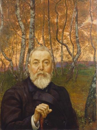 Self-Portrait in a Birch Grove