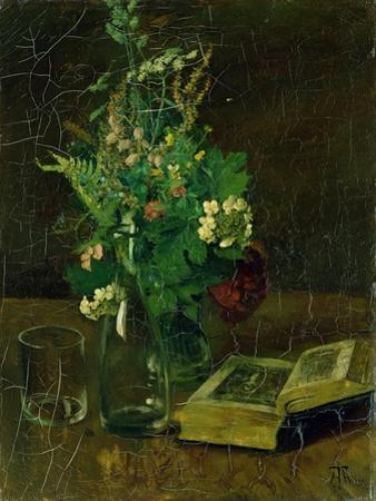 Still Life with a Bunch of Flowers and a Bible, 1872