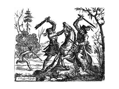 Traveller Attacked During the Thirty Years War