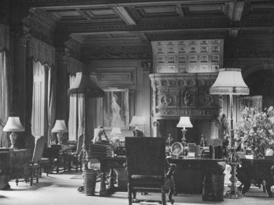 End of Great Hall at Cliveden, Estate Owned by Lord William Waldorf Astor and Wife Lady Nancy Astor by Hans Wild