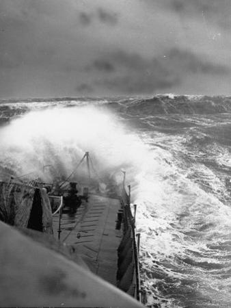 Ex US Destroyer Reaching Open Sea Where Atlantic Took on Its Normal Winter Grayness by Hans Wild