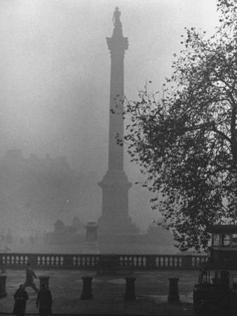 Foggy View of Trafalgar Square