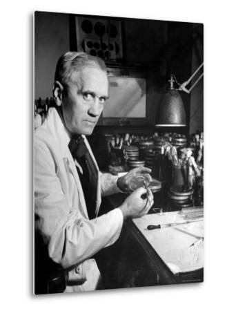 Professor Alexander Fleming Working in Laboratory by Hans Wild