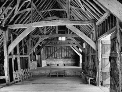 View of the Interior of the Mayflower Barn from a Story Concerning William Penn by Hans Wild