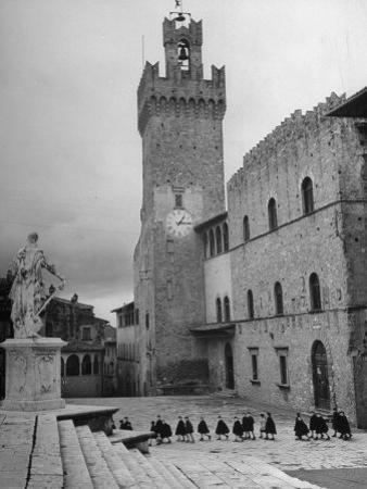 View of Unidentified Church in Arezzo, Italy by Hans Wild