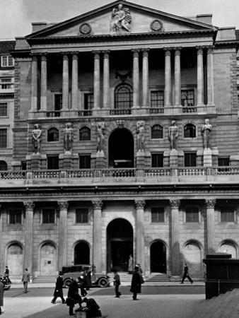 View Showing the Exterior of the Bank of Exchange