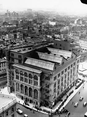 An Aerial View Showing the Exterior of the Cooper Union School by Hansel Mieth