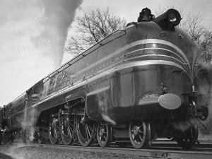 "British Train the ""Coronation Scot"" Traveling Between Baltimore, Maryland and Washington, D.C by Hansel Mieth"
