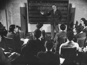 Composer Roy Harris Teaching Music at the Henry Street Settlement by Hansel Mieth