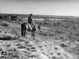 Cowboy at the Matador Ranch in Texas by Hansel Mieth