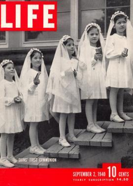 Dionne Quintuplets First Communion, September 2, 1940 by Hansel Mieth