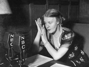 Dorothy Thompson Working on a Radio Broadcast by Hansel Mieth